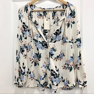 NWT Lucky Brand Floral Blouse